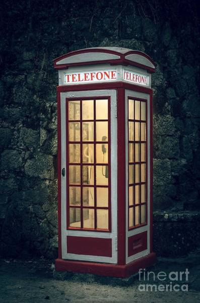 Light Box Photograph - Telephone Booth by Carlos Caetano