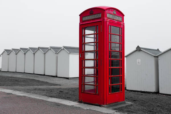 Photograph - Telephone Box By The Sea I by Helen Northcott