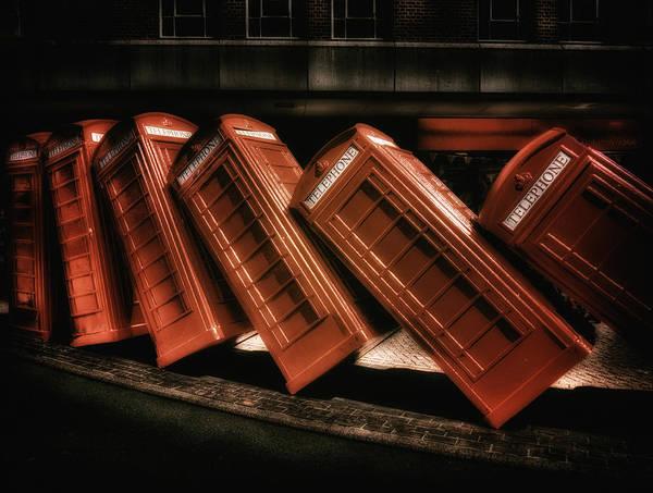 Digital Art - Telephone Boxes by Leigh Kemp