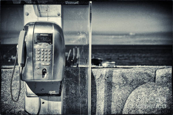 Photograph - Telephone By The Sea by Silvia Ganora