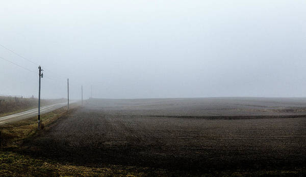 Photograph - Telephone Poles Along A Foggy Field by Pete Hendley