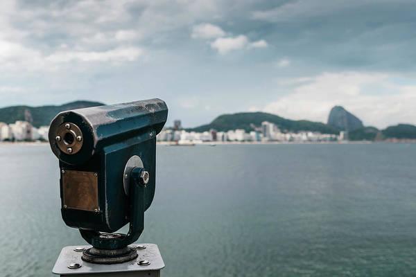 Photograph - Telescope In Copacabana Beach, Brazil by Alexandre Rotenberg
