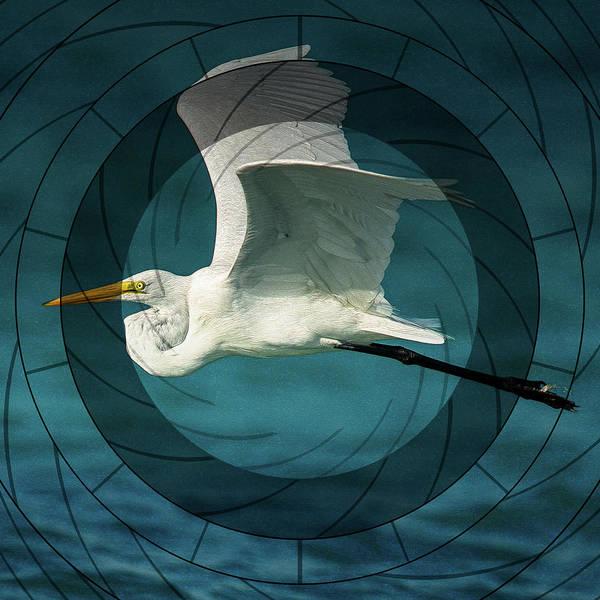 Heron Mixed Media - Telescopic Stork Flight by Georgiana Romanovna