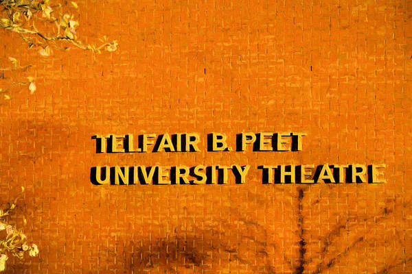 Peet Photograph - Telfair B Peet Theatre by JC Findley
