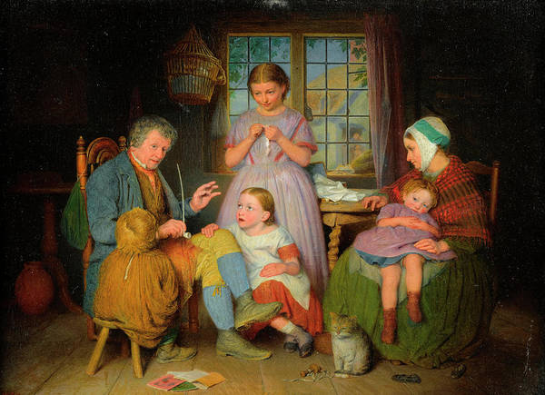 Rural Life Wall Art - Painting - Telling A Tale by Edward Thompson Davis