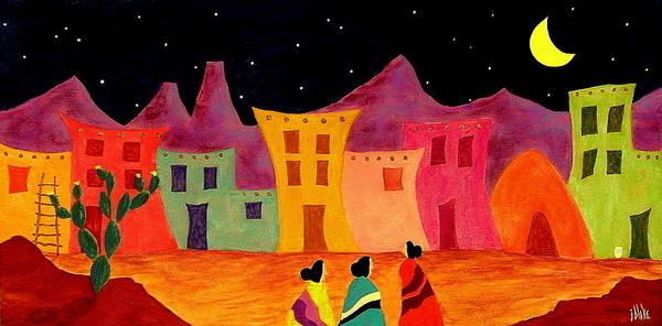 Pueblo Painting - Telling Secrets by John Blake