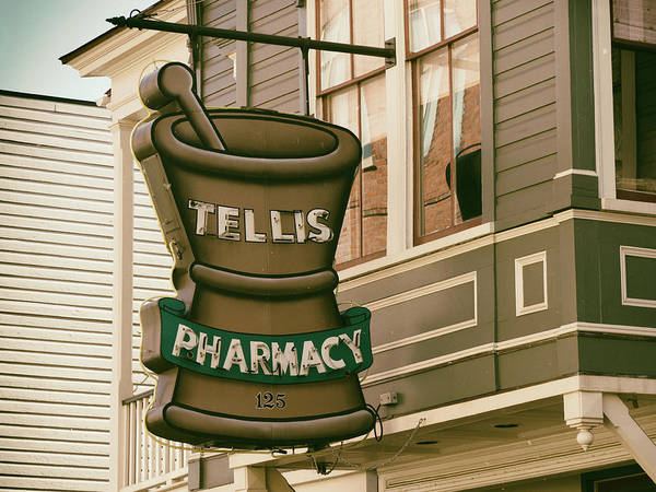 Photograph - Tellis Pharmacy by Michael Colgate