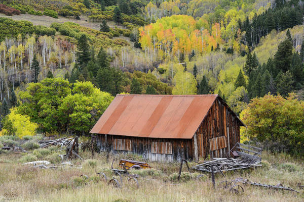 Wall Art - Photograph - Telluride Barn by Aaron Spong