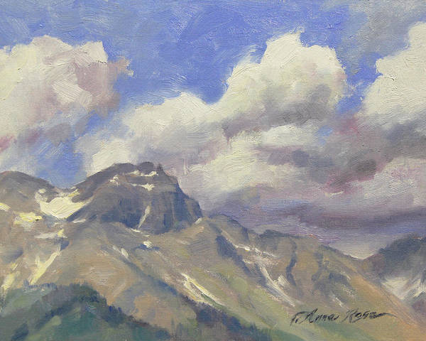 Colorado Landscape Painting - Telluride Clouds by Anna Rose Bain