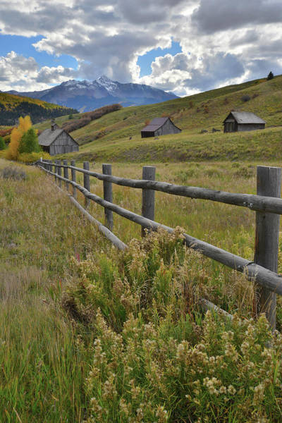 Photograph - Telluride Rustic Ranches by Ray Mathis