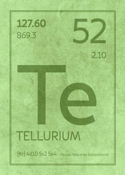 Atomic Number Wall Art - Mixed Media - Tellurium Te Element Symbol Periodic Table Series 052 by Design Turnpike