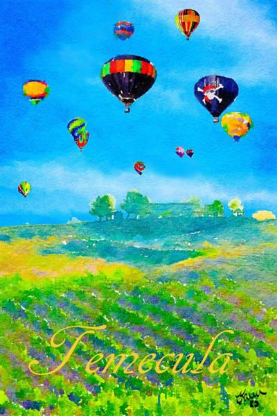 Balloon Festival Digital Art - Temecula Balloon And Wine Festival by Karen Dickel