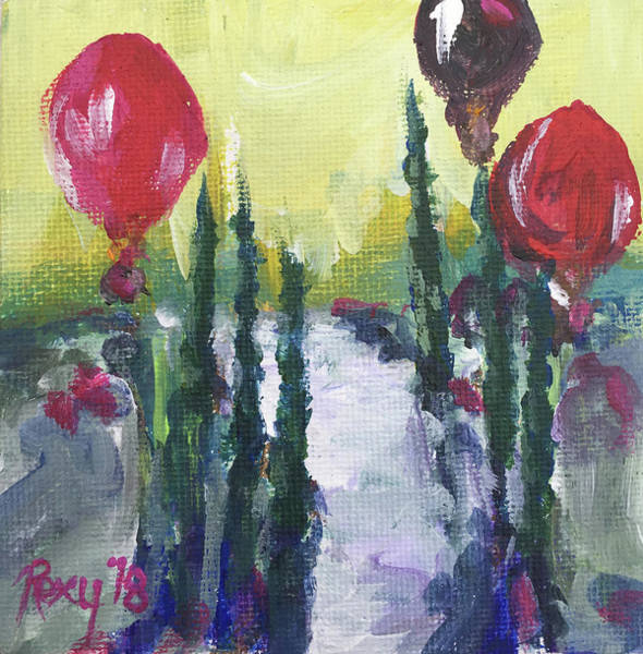 Wine Painting - Temecula Balloons by Roxy Rich