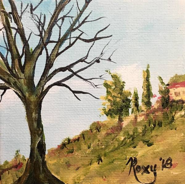 Wine Painting - Temecula Tree by Roxy Rich