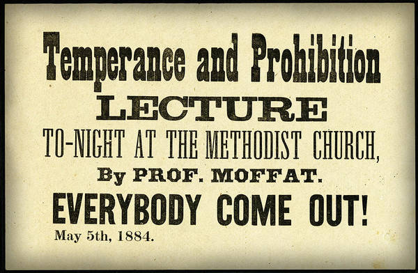 Photograph - Temperance And Prohibition Lecture by Bill Cannon