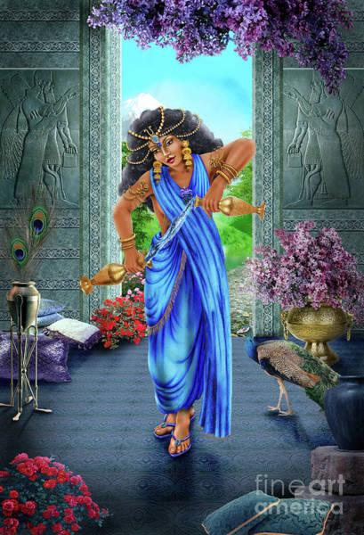 Tarot Deck Digital Art - Temperance Of Babylon by Roxana Paul