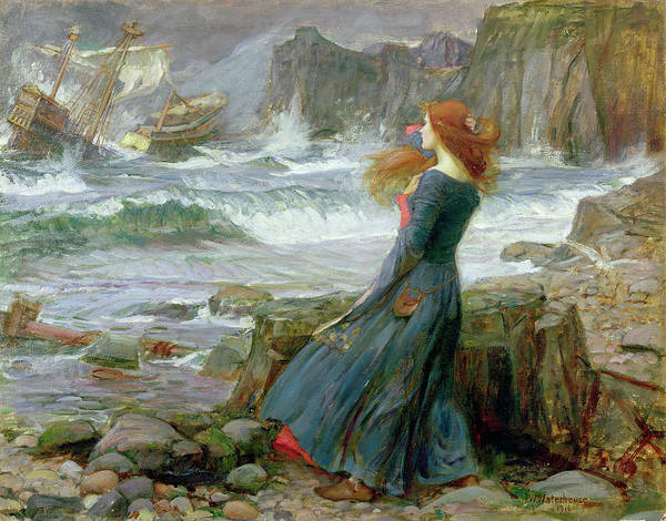 Wall Art - Painting - Miranda by John William Waterhouse