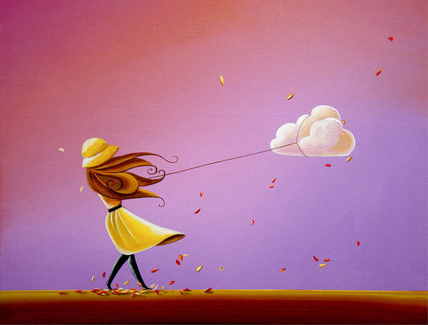 Imaginative Painting - Tempestuous by Cindy Thornton