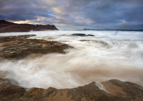 Encounter Bay Photograph - Tempestuous Sea by Mike  Dawson