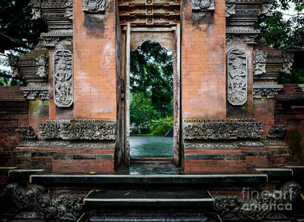 Photograph - Bali Temple Door by M G Whittingham