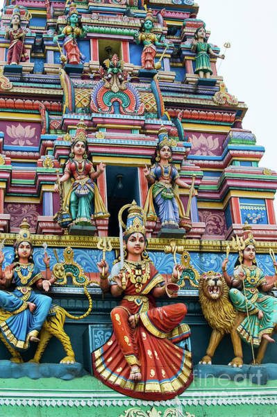 Hindu Goddess Wall Art - Photograph - Temple Gopuram by Tim Gainey
