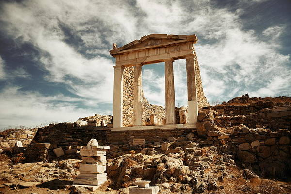 Photograph - Temple In Delos by Songquan Deng