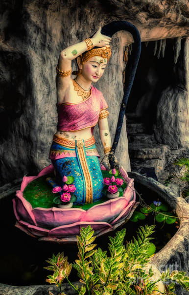Photograph - Temple Lady Statue by Adrian Evans