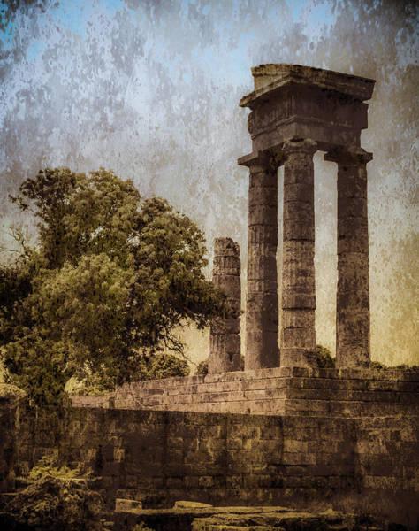 Photograph - Rhodes, Greece - Temple Of Apollo by Mark Forte