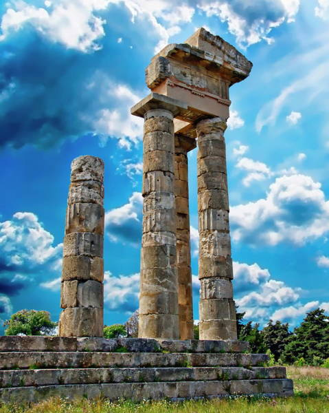 Photograph - Temple Of Apollon by Anthony Dezenzio