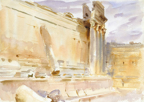 Drawing - Temple Of Bacchus, Baalbek by John Singer Sargent