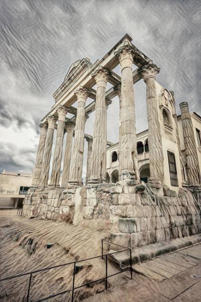 Wall Art - Photograph - Temple Of Diana Merida Spain II by Joan Carroll