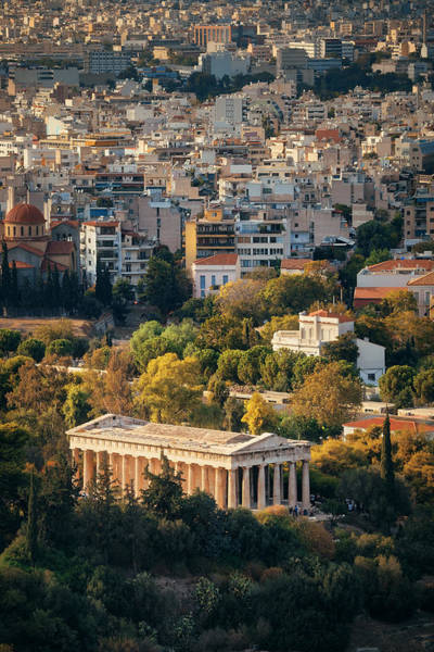Photograph - Temple Of Hephaestus Mountain Top View by Songquan Deng