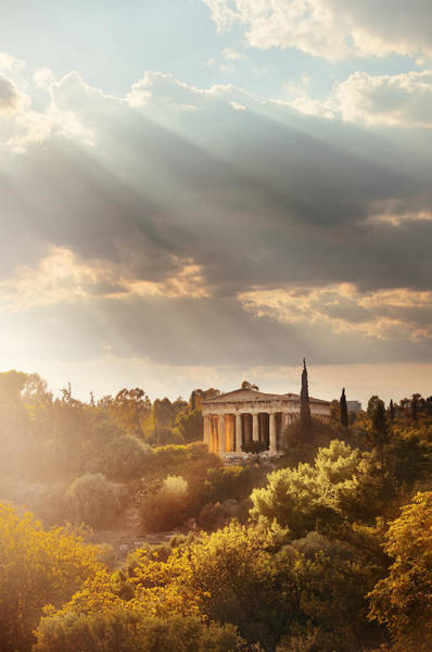 Photograph - Temple Of Hephaestus by Songquan Deng