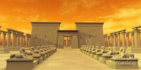 Philae Painting - Temple Of Isis by Corey Ford
