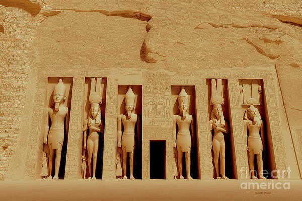 Wall Art - Painting - Temple Of Nefertiti by Corey Ford