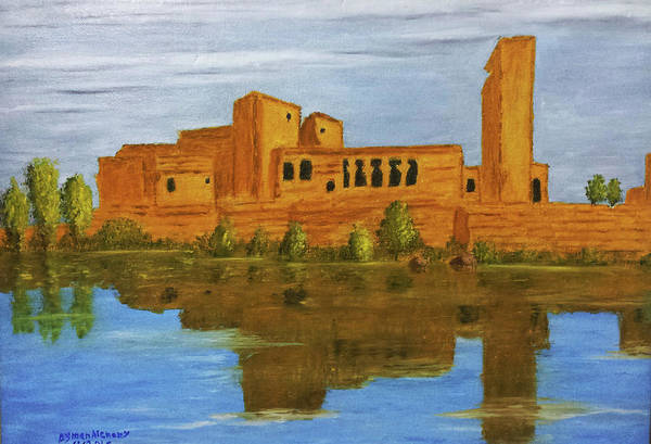 Philae Painting - Temple Of Philae, The Ancient Sciene  by Ayman Alenany