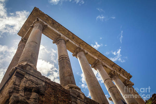 Photograph - Temple Of Saturn by Inge Johnsson
