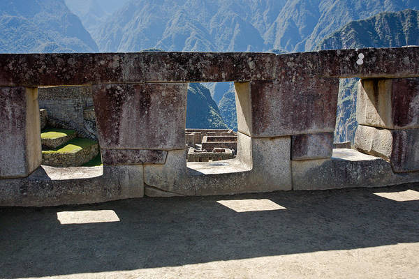 Temple Of The 3 Windows In Machu Picchu Art Print