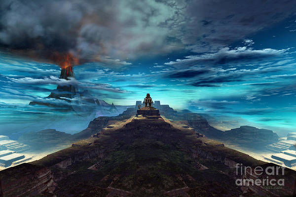 Wall Art - Painting - Temple Of The Fire King by Corey Ford