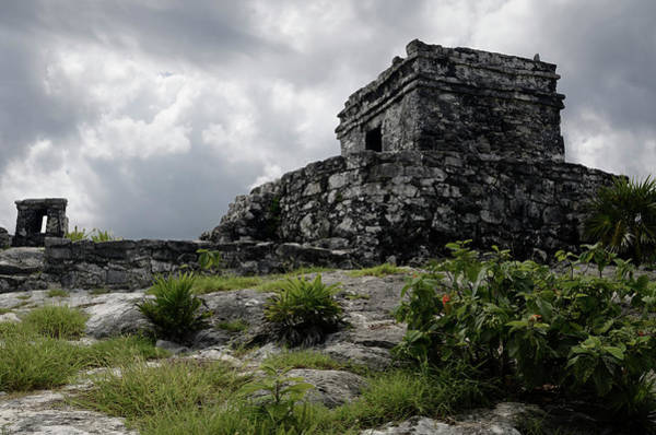 Kukulcan Photograph - Temple Of The God Of The Wind Ruin At Tulum Mexico by Reimar Gaertner