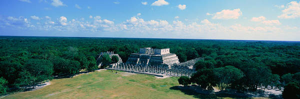 Mesoamerican Photograph - Temple Of The Warriors At Chichen-itza by Panoramic Images