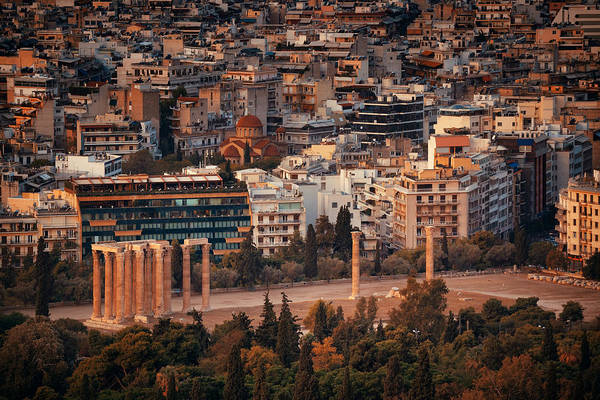 Photograph - Temple Of Zeus by Songquan Deng