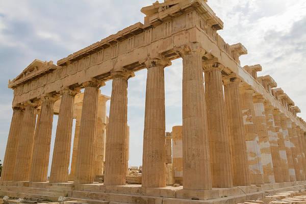 Wall Art - Photograph - Temple Parthenon On The Acropolis Of Athens, Greece by Iordanis Pallikaras