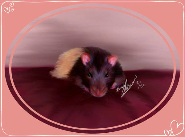 Painting - Templeton The Pet Fancy Rat by Becky Herrera