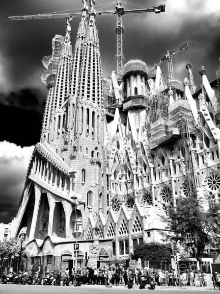 Photograph - Templo Expiatorio De La Sagrada Familia In Barcelona by John Rizzuto