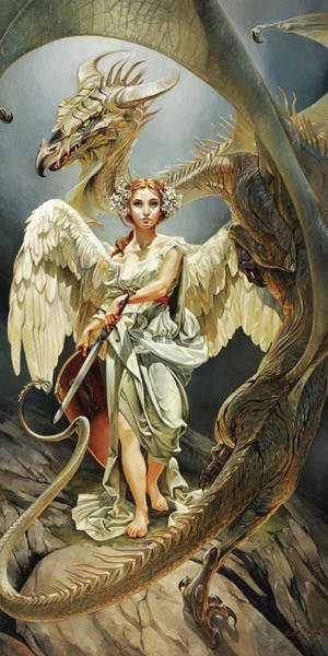 Dragon Fly Painting - Temptation by Heather Theurer
