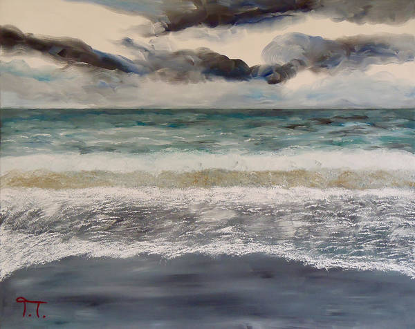 Captiva Island Painting - Ten Footers Rolling In Captiva by Troy Thomas