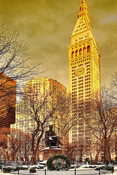 Ten Past Four At Madison Square Park Art Print