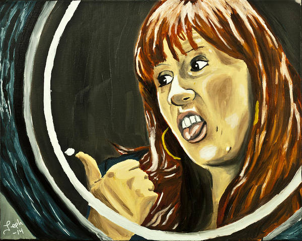 Thumb Painting - Tenacious Donna by Jeph WHO
