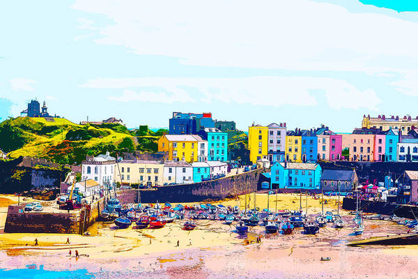 Digital Art - Tenby Harbour by Anthony Murphy